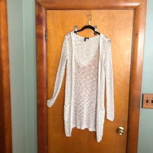 Cynthia Rowley hooded knit cardigan sweater creme
